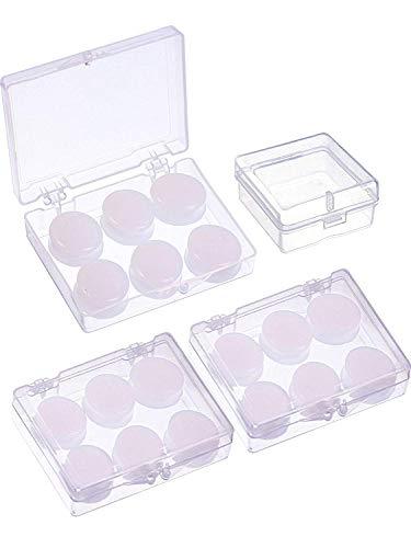 MMBOX 18 paar siliconen oordopjes zachte beschermende putty oordopjes gegoten oordopjes met opbergdoos voor slapen, zwemmen (wit)
