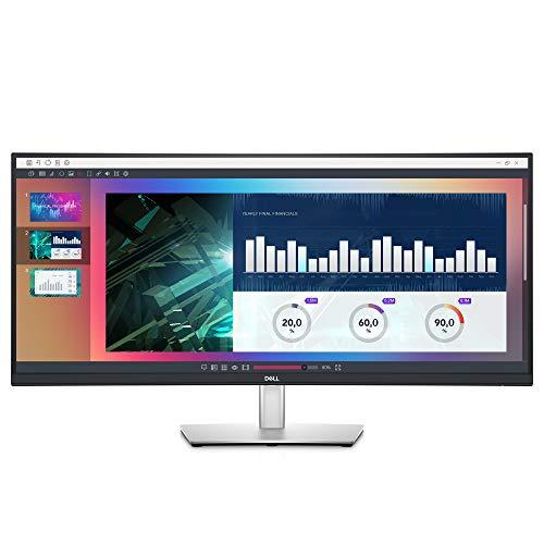 Dell 34-inch Ultrawide WQHD Curved USB-C Monitor (P3421W), 3440 x 1440 at 60Hz, 21:9 Aspect Ratio, 3800R Curvature, 1.07 Billion Colors, Height/Swivel/Tilt Adjustable, Black (Latest Model)