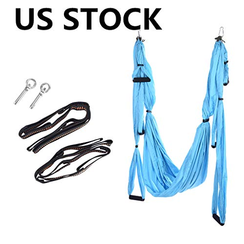 Find Cheap OOEOO Aerial Yoga Swing Set,Yoga Hammock,Hanging Yoga Sling,Trapeze for Yoga,Ceiling Hang...