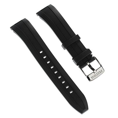 Festina Uhrenarmband Sport Armband-Material PU schwarz für Festina F16829, F16828 Uhren