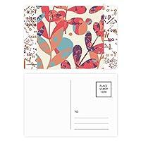 秋の葉・花・植物塗料 公式ポストカードセットサンクスカード郵送側20個
