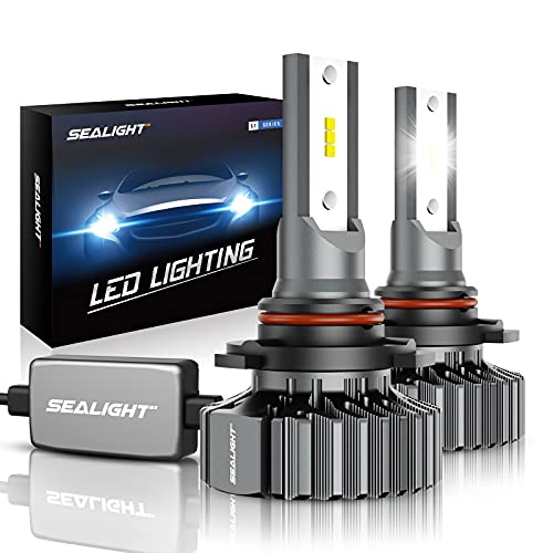 SEALIGHT Scoparc 9005/HB3 LED Headlight Bulbs, High Beam Conversion Kit Plug and Play, 6000K Bright White, Halogen Replacement, Quick Installation, Pack of 2