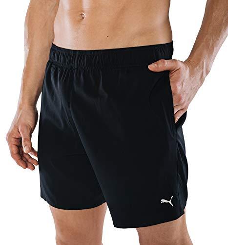 PUMA Herren Badehose Badeshorts Summer Deluxe Swim Shorts - schwarz - Gr. L