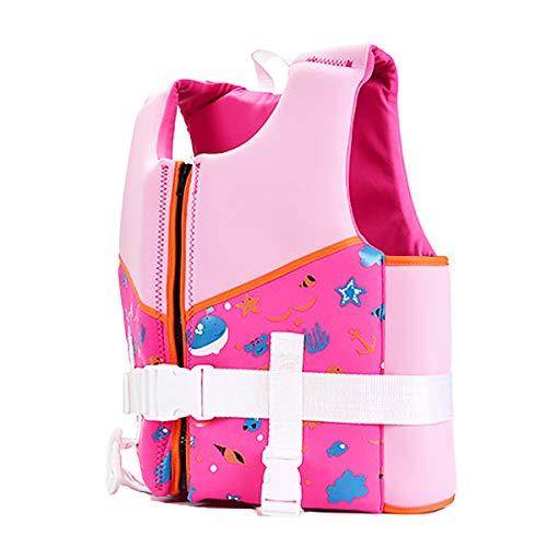 HALASHAO Kinder-Schwimmweste, Babyschwimmweste Badeanzug Junge Mädchen Neopren Schwimmweste, Schwimmbadebekleidung für Kleinkind-Schwimmhilfen,Rosa,M
