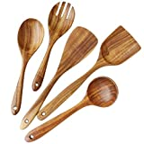 Wooden Utensils Set for Kitchen, ADLORYEA Wood Cooking Spoons Tools for Nonstick Cookware, 100%...