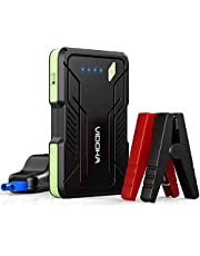 Portable Car Jump Starter 1000A Battery Booster, VIDOKA 12V Jump Starter (Gas Engines up to 7.0L, Diesel up to 5.5L) with Smart Clamp Cables, USB Quick Charge, LED Flashlight