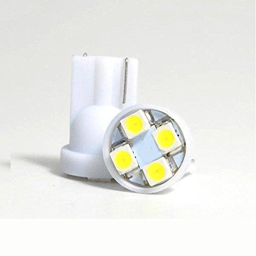 Boomboost 10pcs / lot Voiture a Conduit la lumière T10 10smd W5W a Conduit la lumière 168 194 1210/3528 SMD t10 10 Ampoule LED Couleur Blanche