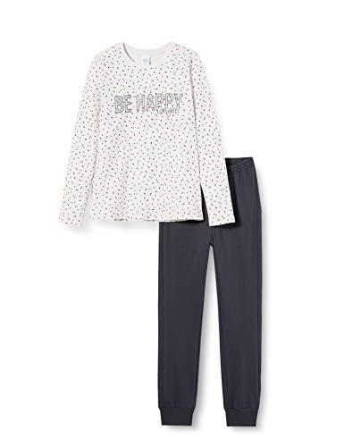 Sanetta Mädchen Schlafanzug Ecru Melange BE Happy Tonight Dieser Pyjama überzeugt durch EIN ausgefallenes Dots-Allover, Beige, 140