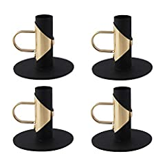 Material: Metal Candle Holder material is iron, Candle Holder bottom is round, not easy to shake, strong stability, standing firm. Size: 8 x 7 cm, the small and delicate Candle Holder can be used to decorate any room to add happiness to your life. Ap...