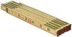 cheap Lufkin X46SLN wooden ruler, 6 feet, brass, black