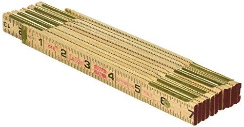 Lufkin X46SLN Wood Rule, 6' Brass Ext,, Black