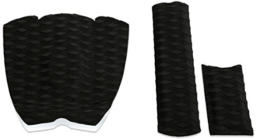 PUNT SURF Ripper Skimboard Traction Pad & Arch Bar - 3 Piece Stomp Pad and Raised Arch Bar for Skimboarding with Best 3M Adhesive for Ultimate Grip. - Guaranteed to Stick on your Board Forever [Black]