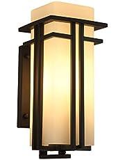 Xiao Jian ijzeren wandlamp, modern, eenvoudig, voor buiten, waterdicht, voor buiten, Japanse tuinlamp, creatieve persoonlijkheid, hal, balkon, buiten, wandlamp