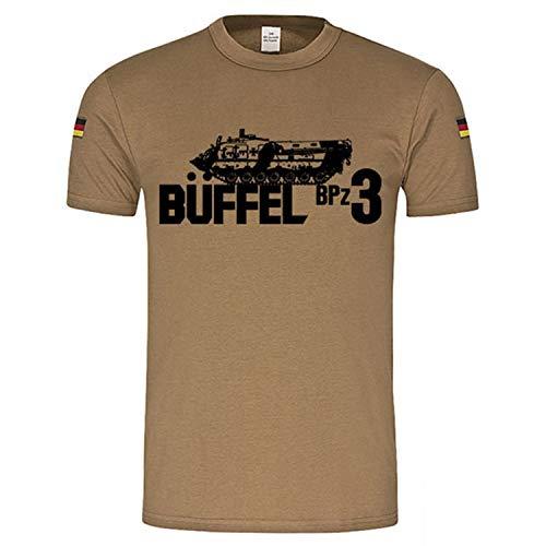 Copytec BPz3 Büffel Bergepanzer BW Inst Leopard 2 Instandsetzung BW Tropenshirt #17712, Größe:XXL, Farbe:Khaki
