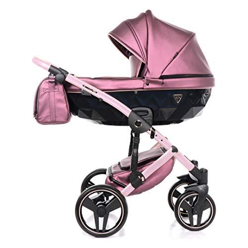Junama Diamond Fluo 2.0 Trio 3en1 Carro de bebé polipiel BBtwin cochecito (rosa)