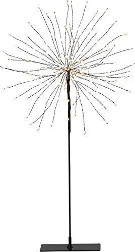 Star 3D-LED-Standstern Firework, schwarz, Metall, 26 x 26 x 51 cm