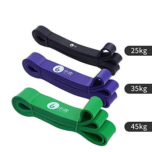 Fitness Band Yoga Elastic Band Hip Resistance Band Strength Training Tension Band Auxiliary Belt Length2.08MBlack25Kg+Purple35Kg+Green45Kg