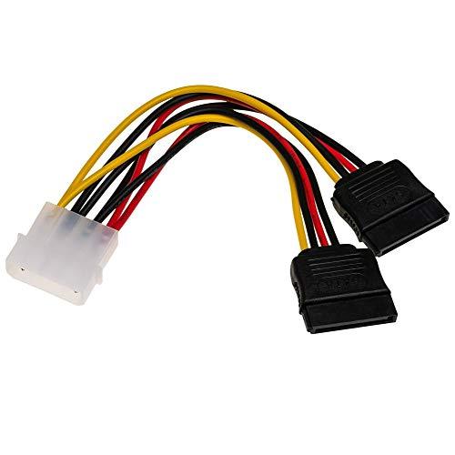 Akyga AK-CA-16 - Cable adaptador Molex a 2 conectores SATA (15 cm)