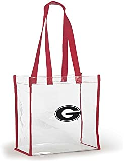 Desden Open Top Stadium Tote, Clear with Long Handles for Georgia Bulldogs Fans.