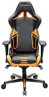 DXRacer OH-RV131-NO Silla de Escritorio, Piel sintética, Negro y Naranja, H: ca.132 cm, B: ca. 67 cm
