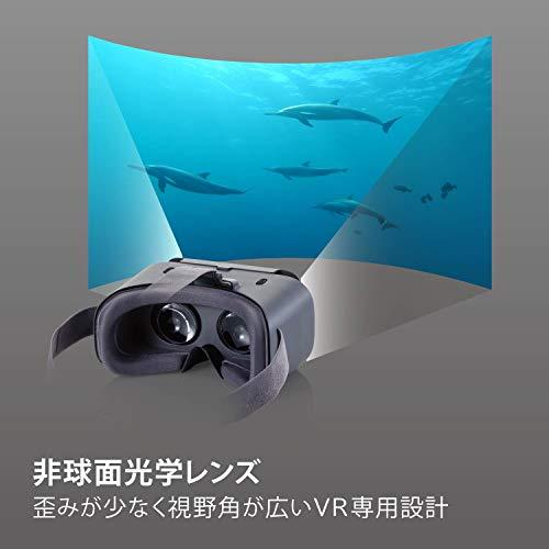 エレコムVRゴーグルVRヘッドセット【DMMで使えるポイント付】ピント調節目幅調節グレーVRG-X02PGE