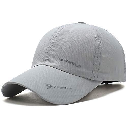 Gorra de béisbol de los Hombres de Verano Gorra de béisbol de Secado rápido al Aire Libre, protección UV para Mujeres Sombrero para el Sol 3 Ajustable