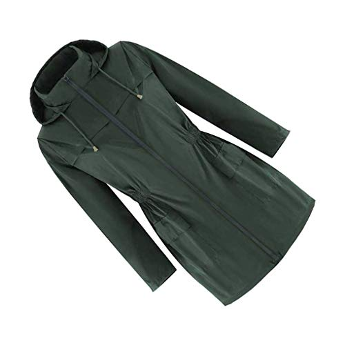 Flushzing Vrouwen Sport Jacket Girls Outdoor vrouwen outdoor jas vrouwen waterdicht winddicht Coat, zwartachtig Green, XXL