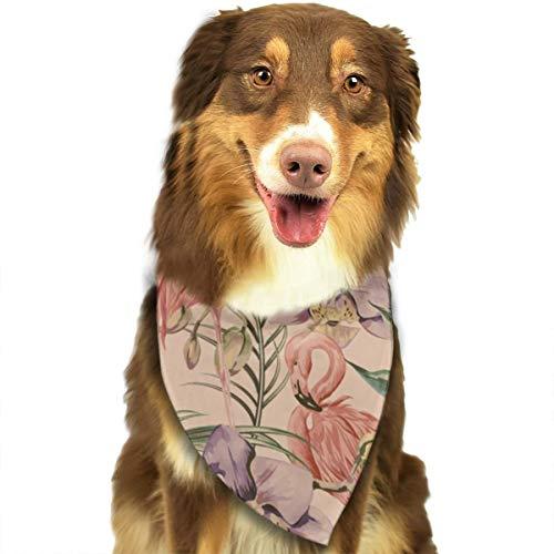 Sitear Exotische Botanische Behang Vintage Boho Stijl Hond Kat Bandana Driehoek Bibs Sjaal Huisdier Kerchief Halsdoek Set Voor Kleine Tot Grote Hond Katten Aangepast