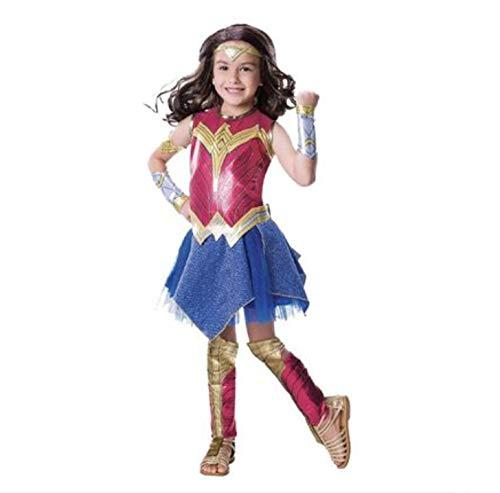Disfraz De Supermujer Para Niños Disfraz De Mujer Maravilla League Of Legends COS Service Disfraz De Personaje De Superhéroe,S(110-120cm)