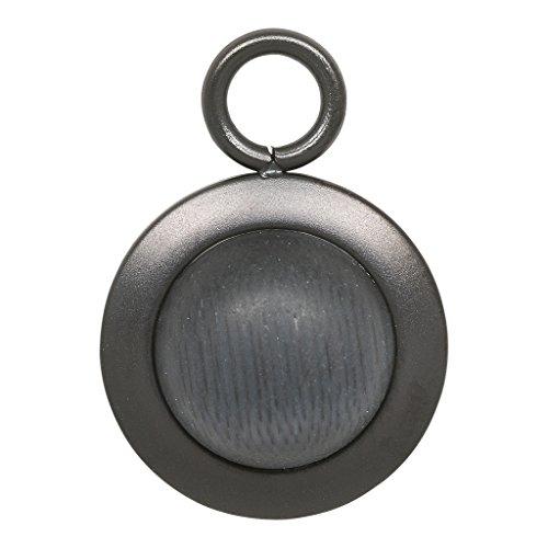 iXXXi Anhänger STEIN SCHWARZ MATT schwarz Ø 1,4 cm