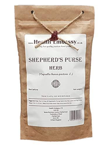 Health Embassy Bolsa de Pastor Hierba (Capsella bursa pastoris) / Shepherd's Purse Herb, 50g
