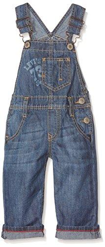 Levi's Kids Baby-Jungen Overall MOA Latzhose, Blau (Sodalite Blue 46), 80 (Herstellergröße: 18M)