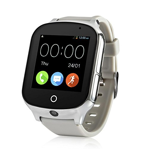 3G WiFi Phone Call GPS Smart Watch, Laxcido Real-time Tracking SOS GPS Tracker Watch, Geo-Fence GPS Watch Touch Screen Camera Step Counter GPS Watch SOS Alarm Anti-Lost GPS Watch