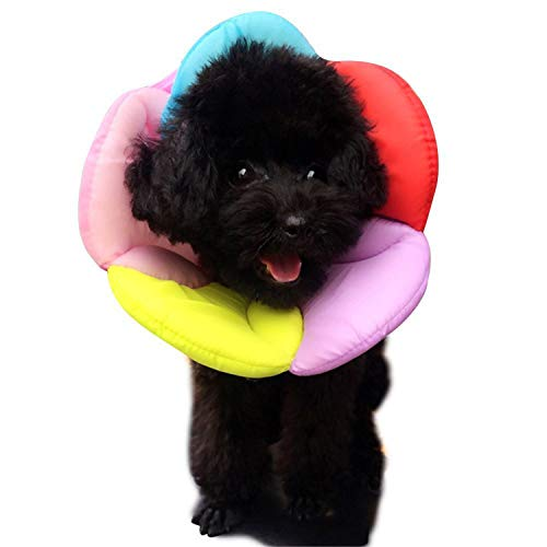 Lightton エリザベスカラー 犬用 猫用 ソフトで優しい 超軽量 可愛い 柔らかい 傷舐め防止 傷口保護 介護 ...