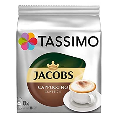 TASSIMO Jacobs Cappuccino Classico Coffee Pods - 5 Packs (40 Drinks)