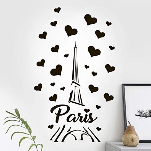 París Torre Eiffel Arte de la Pared Pegatina Decorativa Decoración de la Cocina Decorativa Sala de Sala de Sala de Vinilos Decoración de Amor Mural Viaje Infantil Extraíble Imagen Pasillo