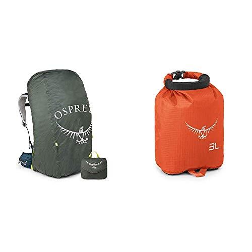 Osprey Ultralight Raincover for 30 - 50L Packs (M) & Ultralight DrySack 3 - Poppy Orange