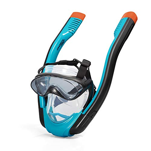 Hydro-Pro SeaClear Flowtech Full-Face Snorkelling Mask, Unisex Underwater Face Mask, S/M