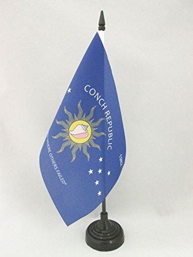 AZ FLAG Bandera de Mesa de la REPÚBLICA DE LA Concha 21x14cm - BANDERINA de DESPACHO Key West – Conch Republic 14 x 21 cm
