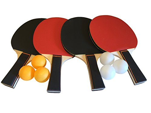 Sale!! GameRoomGo Ping Pong Paddle Set, Table Tennis Set Including 4 Rackets and 6 Ping Pong Balls. ...