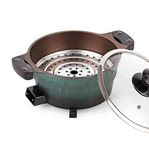 KSW_KKW Arrocera, Arrocera for arroz con Leche, Olla de arroz, Multifuncional Olla Caliente, eléctrica Sartén, Cocina eléctrica (Color : Green)