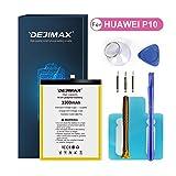 DEJIMAX Reemplazo de Batería para Huawei P10 / Honor 9, Batería de Repuesto de Iones de Litio de Alta Capacidad de 3300 mAh con Herramienta y Kit de Reparación
