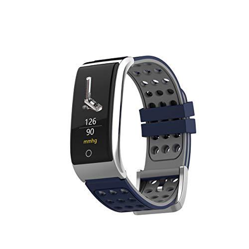 LWPCP Braccialetto Intelligente, 2,4cm Touch Screen + ECG PPG monitoraggio della frequenza cardiaca Pressione sanguigna Sleep Mode Sport Fitness Tracker