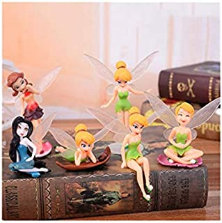 6PCS Fairy Princess Toys Tinkerbell Secret Of The Wings Kids Birthday Gift Cake Toppers Wedding Decoration Doll