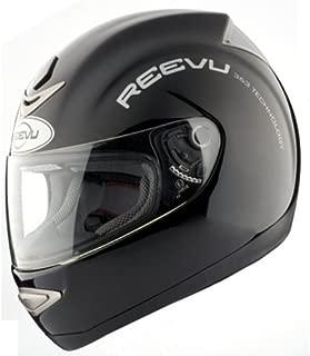 Reevu MSX1 Rear-View Motorcycle Helmet - Black Gloss - M