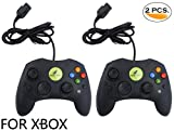 Noa Store 2 LOT Black Controller Control Pad Compatible with Microsoft XBOX X System