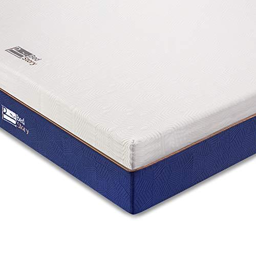 BedStory Komfortabler 7 Zonen Matratzentopper aus Kaltschaum (Größe 90 x 200 x 5 cm), orthopädischer Topper als Matratzenauflage für unbequeme Betten/Matratze/Boxspringbett