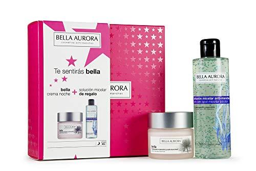 Bella Aurora - Pack Bella Noche 50ml + Solucion Micelar 200ml | Caja de Regalo | Anti-edad | Tratamiento Anti-arrugas | Antimanchas