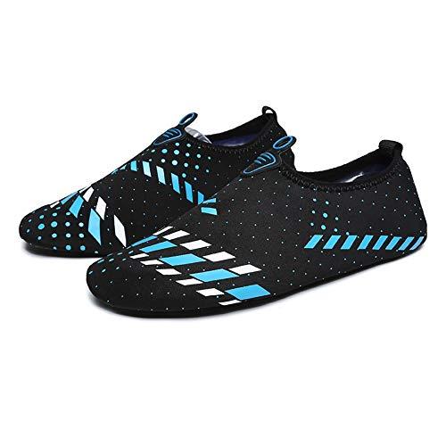 KDOAE Calzado de Agua para Hombres y Mujeres Cubrezapatos natación de los Hombres Lleva Calcetines Agua for Nadar Surf Yoga Natación en la Playa (Color : Light Blue, Size : 35-36)