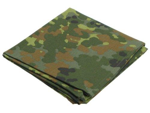 Halstuch / Bundeswehr Dreiecktuch, 100% Baumwolle, flecktarn